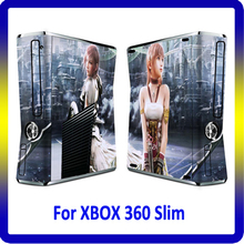 For Xbox 360 Slim Console Vinyl Decal Skin + Two New Controller Skin For Xbox 360