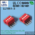 DIP SWITCH 4 POSITION PITCH 2.54MM R/A TYPE DA