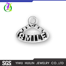 CN184943 Yiwu Huilin Jewelry Lovely hangers letter Smile pendant necklace jewelry shape