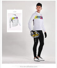 Polyester long sleeve cycling jersey men bike clothes China manufacture <strong>Sportswear</strong>