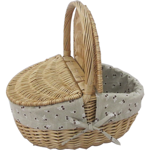 Willow wicker picnic baskets