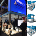 Detian Display custom two storeys exhibition booth double deck stand from shanghai