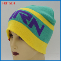 100% acrylic plain custom winter ski hat
