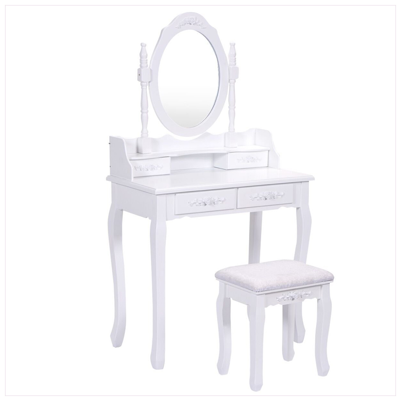 Venetian Mirrored Glass Wall Mounted Dressing Table