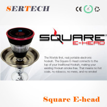 SQUARE ehead 2014 most popular huge vapor best original square e head e hookah battery powered electronic shisha e hookah