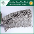 Factory supply stainless steel cleaner chainmail pan scrubber