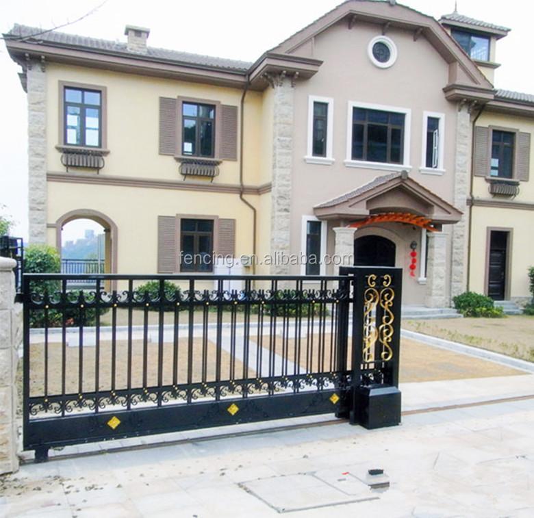Alibaba factory beautiful sliding entrance gate designs buy iron gate designs entrance gate for Entrance gate designs for home