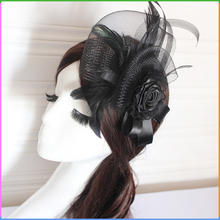 Hair Accessories Mesh and Feather Lady Fascinator Wholesale