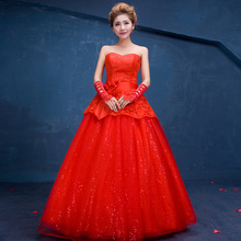 C71496A Halter Neck High Low Hem Wedding Dresses Red Wedding Gowns Pictures