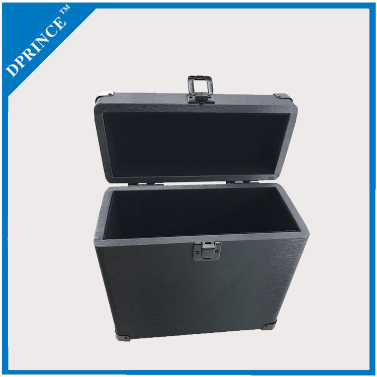 Wholesale portable Vintage 7 inch black suitcase vinyl record box