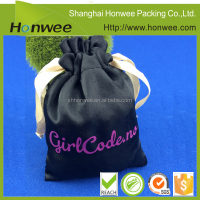 fabric cosmetic bag drawstring bag polyester christmas gift bag