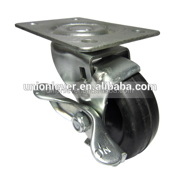 Swivel 3 inch table wheel caster with brake castor cheap casters and wheels