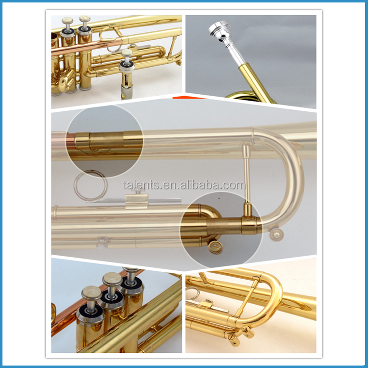 Professional trumpet, rose brass lead pipe trumpet, trumpet Bb key
