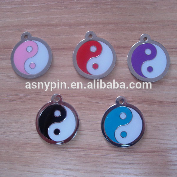 chinese elements pet tag/round pendants/metal jewelry tag