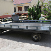 Low Bed Trailer Luggage Trailer For
