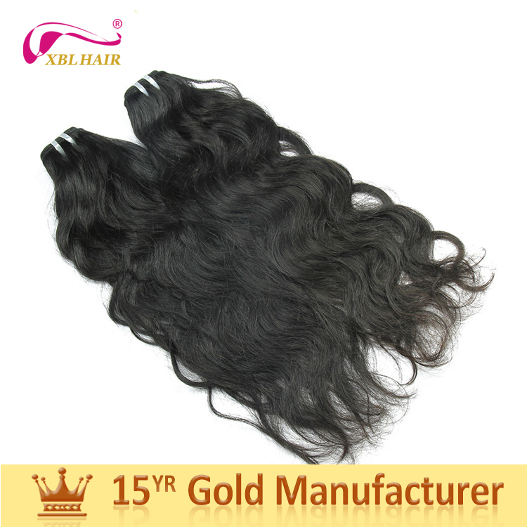 Real no acid virgin remy hair weft 10a unprocessed grade malaysian natural wavy