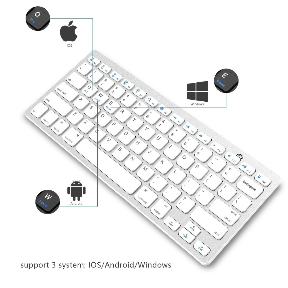 hot selling wireless keyboard For Mac PC iPhone iPad IOS Android Windows