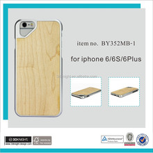 Custom new fashion Wood/sublimation blank case for iphone 6