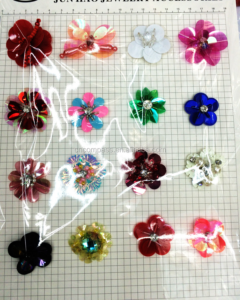 2016 hot new accessories Paillette sequins handmade flower Fine Shining DIY Clothes For Party Dancing Jewelry Make accessories
