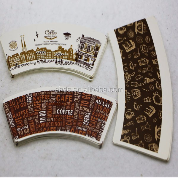 Factory sale cheap PE coated paper coffee cup fan from China