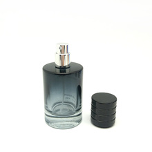 50ml 100ml Clear Glass Round Refillable Empty Perfume Bottles with Sprayer Applicator and PP cap
