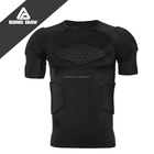 Custom Short Sleeves protective t-shirt top wear Padded compression Shirt with Round Neck