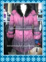 twp-tones of color padding winter jacket women