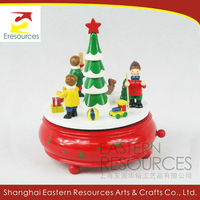 Wooden Christmas Musical Box
