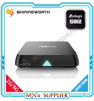 Factory price 4K full HD Android Media Player Dual Wifi OTA updater Amlogic S812 internet tv box