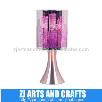 New York skyline touch table lamp