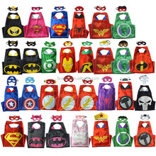 Wholesale Kids Cosplay Costumes Party Supergirl batgirl Cape and Mask Super hero