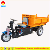 ISO approved strong power three wheels electric cargo tricycle with hydraulic
