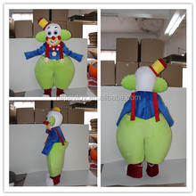 2017 New arrival! Richly Colorful Clown costume della mascotte plush mascot costume custom costume for rental