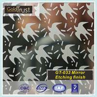 AISI,ASTM 304 Super/No.8 Mirror Etching finish Decorative Stainless Steel Sheet for Elevator,Building and Kitchen wall panels