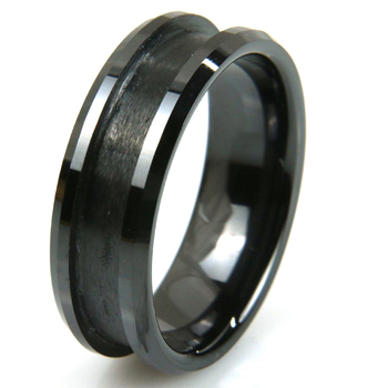 Grooving tungsten ring blank tungsten ring for jewelry making