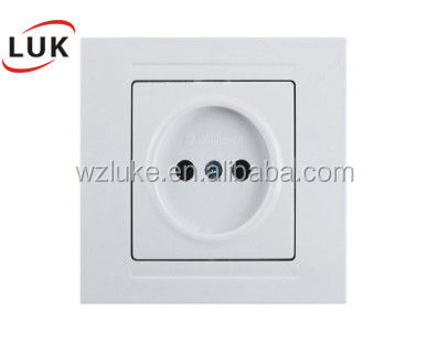 European standard light switch Wall Socket abs material good price wall switch for home Germany/Russian Wall Socket And Switch