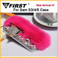 fox rabbit fur case for Iphone,luxury case for samsung