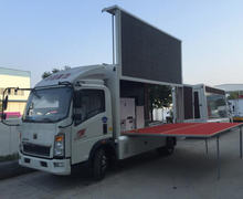 P10 SINOTRUK color LED outdoor Truck mobile full advertising display led mobile advertising trucks for sale