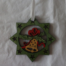 Christmas decoration wood printing craft wooden christmas tree decoration wooden hanging ornament