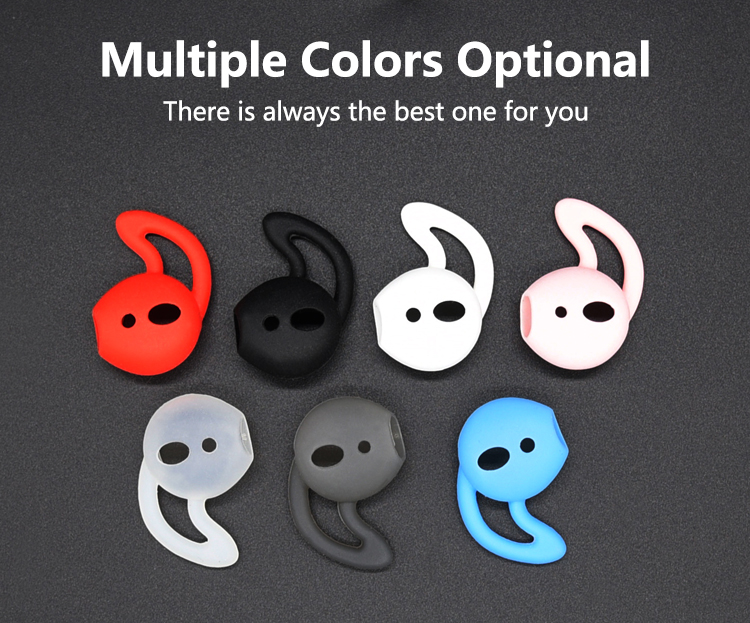 2018 New High Quality Silicone EarPlugs For AirPod Ear Hook Earbuds Case Cover For Apple Air Pods