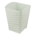 White Arc-shape Metal Punched Spray Open Top Trash Can