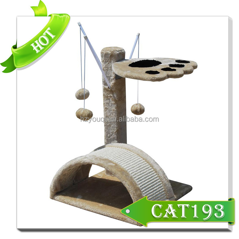 Popular European Style Cat Products Durable Cat Tree Cat Scratcher with hanging toys
