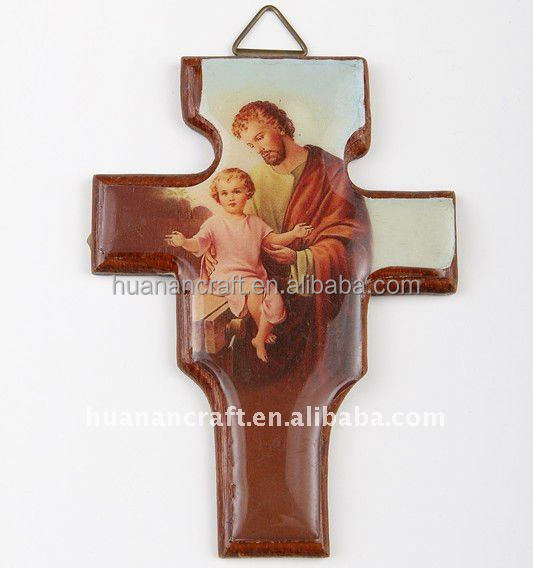 Stretch Religious european style christian woooden crucifix craft