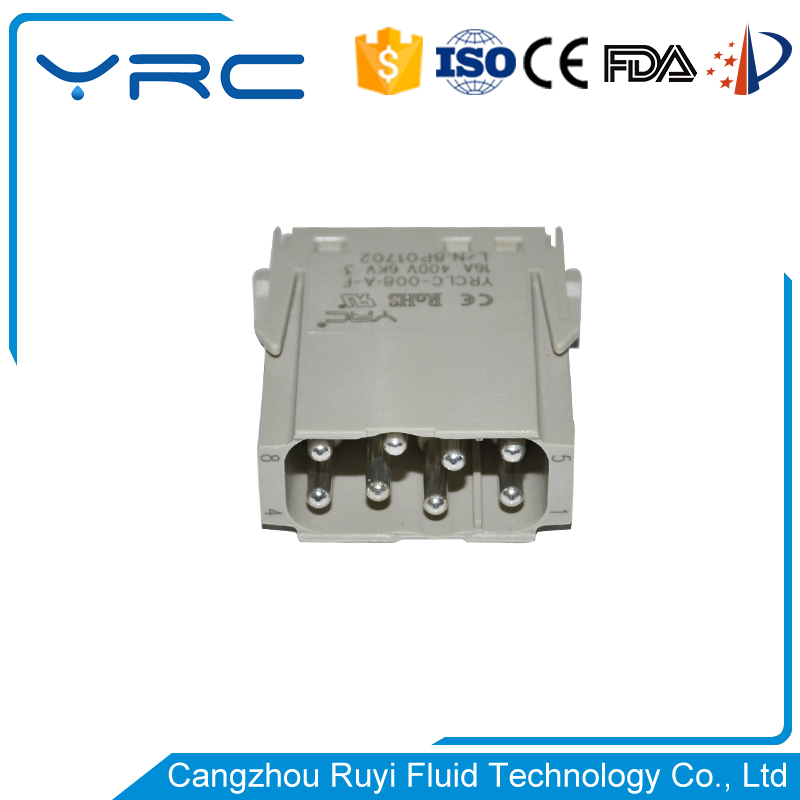 auto water proof DHC heavy duty 8 pin connector