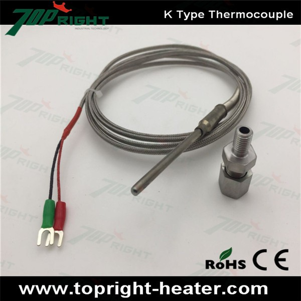 2m Stainless Steel Type J K Thermocouple manufacturer