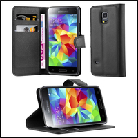 Premium Wallet Leather Moblie Phone Case Cover for Samsung Galaxy S5 Mini