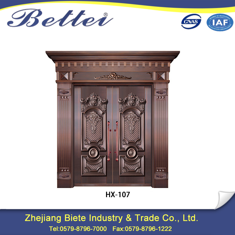 china supplier temporary copper door for apartment