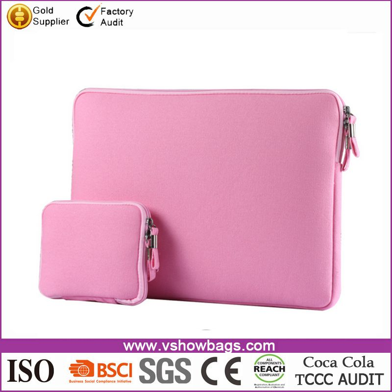 Newest neoprene laptop sleeve case without zipper