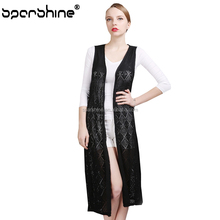 Wholesale Custom Wool Knitted Sleeveless Women Long Sweater Cardigan
