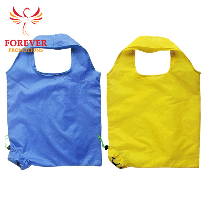 Football Shape Folding Bags Reusable Shopper Bags